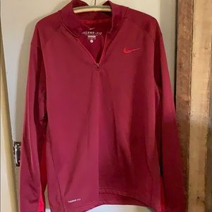 Men's Nike 1/4 zip thermal-fit maroon light fleece